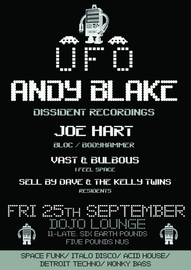 UFO club night poster, September 2009